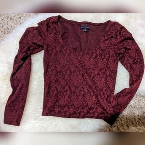 AE floral long-sleeve top